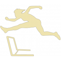 Hürdenläuferin